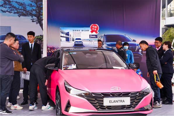 北京现代伊兰特 人民车市名城巡展晋城站最靓的崽儿