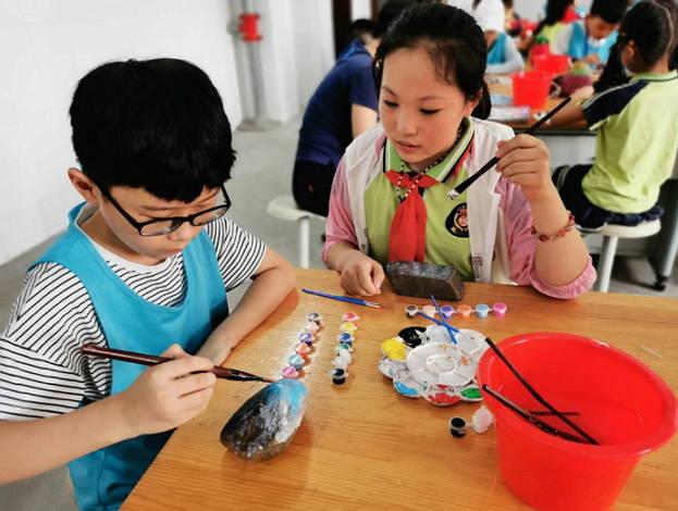 沂南:五小奇石绘画传友谊   学生交流促成长
