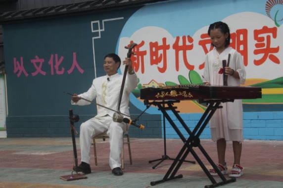 郯城县杨集镇文化艺术志愿服务巡演进社区