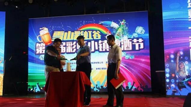 沂水县:首届彩虹小镇啤酒节开幕,打造动感夜生活